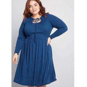 ModCloth To Your Liking Keyhole Midi Dress 3X